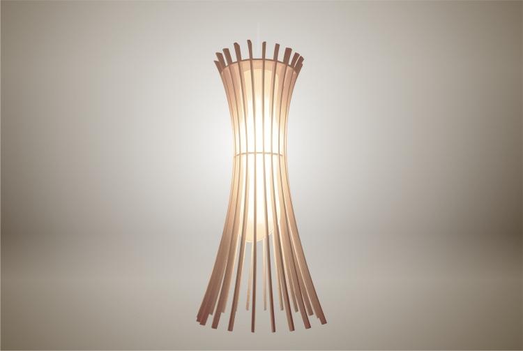 Luminaires ; Lampe eco design en bois, EPIS suspension