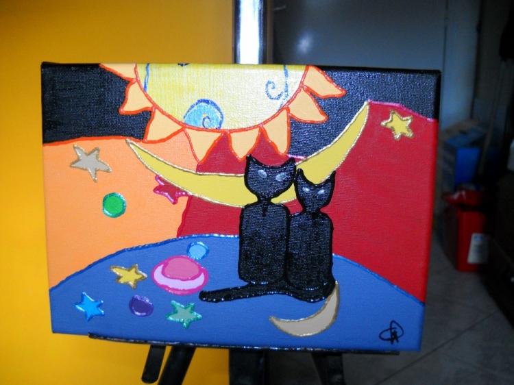 Petit tableau de chats