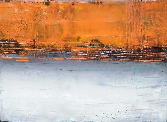 TABLEAU PEINTURE Abstrait Acrylique Atmosphère Mer - Petit Paysage