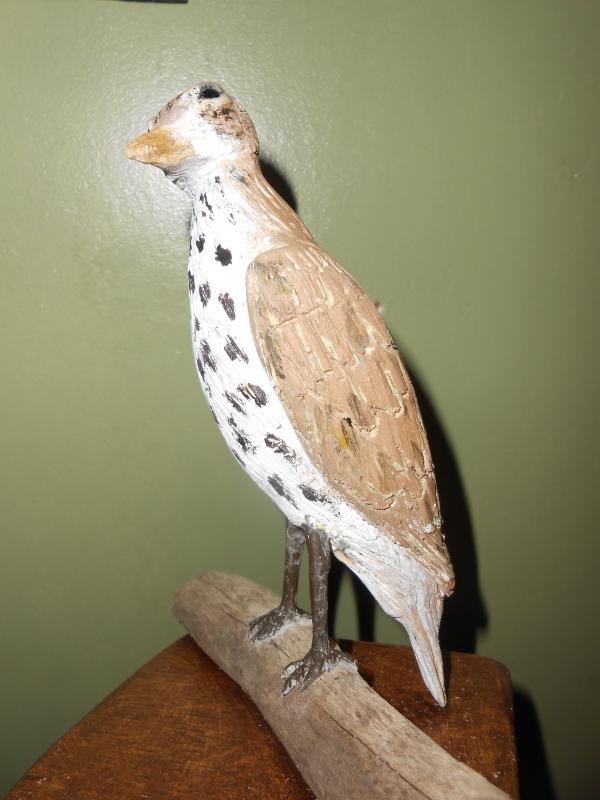 SCULPTURE oiseaux bois sculpture animaliere oiseaux sculpté - la grive
