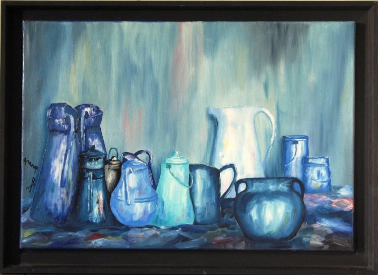 Pots turquoise