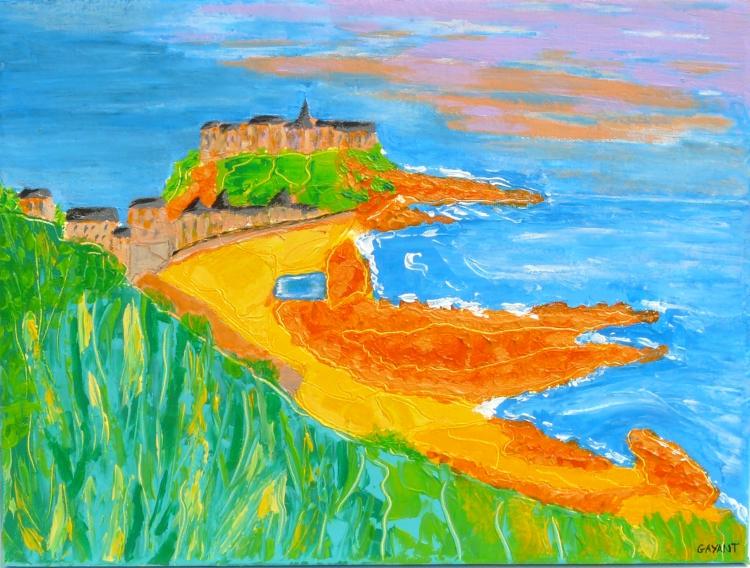 """tableau peinture """" Granville """" Normandie"""
