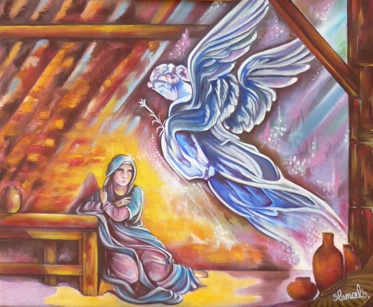 Tableau Peinture Art Peinture A L Huile L Annonciation