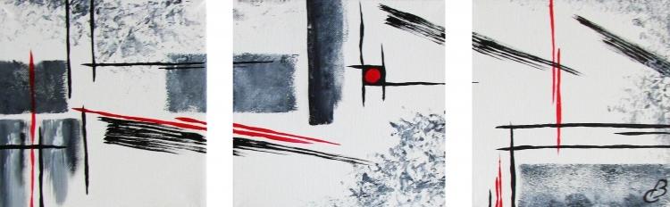 Triptyque abstrait