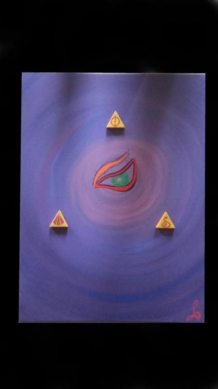TABLEAU PEINTURE oeil pyramide complot symbole - We see all
