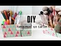 DIY rangement à crayons ou pinceaux en carton
