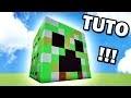 Comment faire une maison dans une Tête de Creeper sur Minecraft ? TUTO !! :)