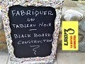Tableau noir pour l'atelier / Workshop's blackboard