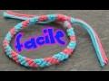Bracelet bresilien 2 couleurs (super facile)