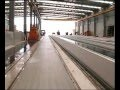 Installation pour la fabrication de poutrelles et dalles alvéolées en béton précontraint