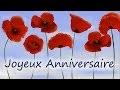 Joyeux Anniversaire -  Jolie carte d'anniversaire virtuelle gratuite
