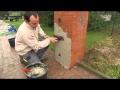 placement parement brique en plaquette Elastolith rusticana