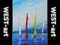 marine n°18, voiliers (acrylique)