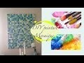 DIY décoration murale effet mosaïque facile