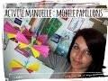 activité manuelle mobile papillon