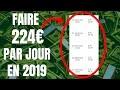 COMMENT GAGNER DE L'ARGENT SUR INTERNET EN 2019 (224€ en un jour)