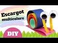 Comment fabriquer un escargot en papier ? (Bricolage facile pour enfants)