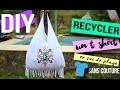 DIY MODE┋RECYCLE UN T-SHIRT EN SAC DE PLAGE SANS COUTURE _ shirt to bag no sew, DIY Francais