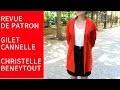 Revue de couture - Gilet Cannelle de C  Beneytout