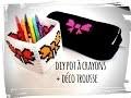 diy back to school trousse et pot à crayons