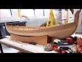 Construction d'un  bateau viking modèle réduit