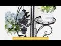 3 Niveaux Porte Plante Dcoratif Fleur tagre en fer forg Etagere de jardin Noir