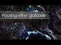 tuto acrylique fusion/acrylic pouring effet galaxie