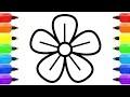 Comment Dessiner Des Fleurs À Colorier Pour Les Enfants