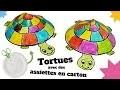 TUTO / DIY : Fabriquer une tortue avec une assiette en carton (Bricolage facile pour enfants)