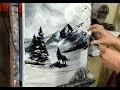 PEINTURE AU COUTEAU : LE LOUP / KNIFE PAINTING: THE WOLF par Nelly LESTRADE
