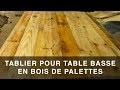 Tablier rustique en bois de palettes pour table basse