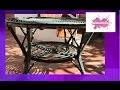 DIY. Restaurer une table en rotin. // Restore a cane table.