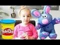 Confection d'un petit lapin bleu en pâte à modeler - Clay rabbit Play Doh