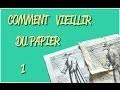 COMMENT VIEILLIR DU PAPIER #1 - TUTORIEL PARCHEMIN CARTE TRESOR