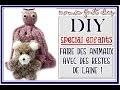 Comment faire des animaux avec des restes de laine et des pompons, pieuvre, ourson, DIY pour enfants