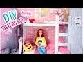 DIY Barbie chambre comment faire lits superposés pour poupées Barbie