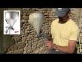Joint de pierre avec une Machine à crépir