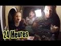24 HEURES dans LA MAISON EN CARTON du JARDIN de LA FAMILLE DÉMO JOUETS - 24 HOUR FORT BOX CHALLENGE
