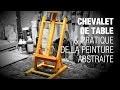 Chevalet de table & peinture abstraite