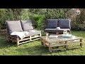 Créer son salon de jardin en palettes en bois - DIY