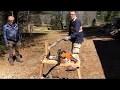 Chevalet de sciage pour scies à chaine tronçonneuse