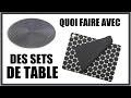 QUOI FAIRE AVEC DES SETS DE TABLE DIY EN FRANÇAIS