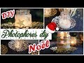Photophores de Noel DIY avec des pots de verre