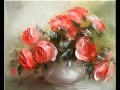 bel art peinture des fleures
