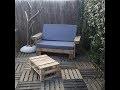 Fabriquer un salon de jardin en bois avec palettes tutoriel  - bricolage facile