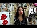 PEINTURE AU COUTEAU:  Les Coquelicots (poppies, knife painting)