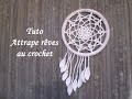 TUTO ATTRAPE REVES AU CROCHET Dream catcher crochet ATRAPASUENOS CROCHET