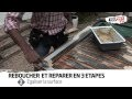 REBOUCHER BOIS, trous, fentes, angles cassés de toutes tailles sur charpentes menuiseries TOUPRET