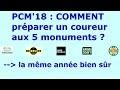 COMMENT être performant sur les 5 monuments dans PCM 2018 ?