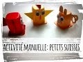 animaux en pot de petits suisses - activité manuelle
